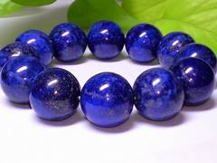 パワーストーン☆天然石!!ラピスラズリ瑠璃16ミリ数珠ブレスレット§聖なる石