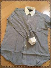 黒×白/ストライプ/長袖/シャツ/Yシャツ/men's