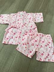 新品未使用100女の子甚平浴衣夏祭りパジャマ部屋着にも