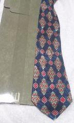 ダンヒル ネクタイ  紺に菱形柄