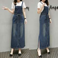 新品大きいサイズ6L21号デニムマキシジャンパースカート