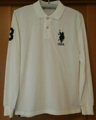 未使用U.S.POLOASSN.ユーエスポロアッスン ポロシャツ メンズM ホワイト ゴルフ