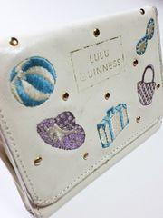 ルルギネス/LULU GUI刺繍スタッズ革製名刺入れカードケース
