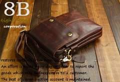 ◆牛本革 プルアップレザー 小型ショルダーバッグ◆赤茶c12