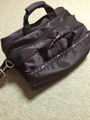 YURIE NITANI ポケットと仕切りが沢山の多機能大容量バッグ 黒