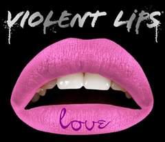 1g6)ViolentLipsバイオレントリップスLoveタトゥーシールピンクB系セレブパーティー唇