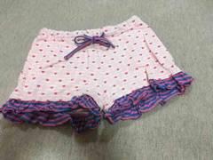 ジェニィ*裾フリル/ショーパン*140、ピンク系、着用回数少なめ