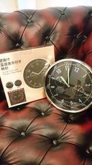 新品☆掛け時計温湿表示付き暗所針が光る