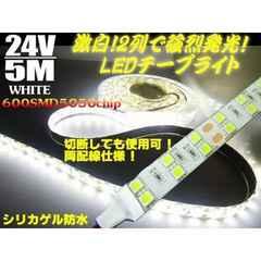送料無料!24V船舶漁船用/5m/防水LEDテープライト蛍光灯・集魚灯