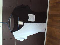 白×黒バイカラー モードTシャツ