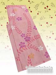 【和の志】洗える着物◇単衣Sサイズ◇コーラルピンク・桜◇29