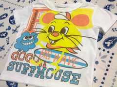 男の子用ポップイラスト半袖Tシャツサイズ100�pネズミ