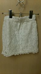Right-on☆白タイトスカート☆サイズ130