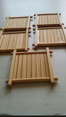 竹製 コースター 5枚セット まとめ売り 1スタ