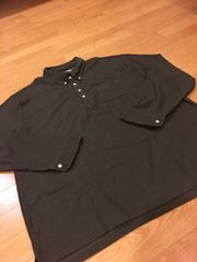 BACK POINT  ボタンダウン長袖ポロシャツ  size7L→3XL 深緑