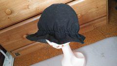 黒の帽子夏の散歩にもS〜M