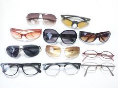10288/ブランド未チェック眼鏡やサングラス11個まとめて出品!破格出品です