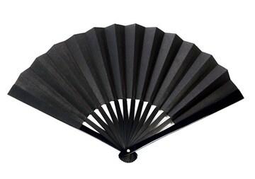 鉄扇 扇 扇子 尾形刀剣 8寸黒 TS-B ブラック 団扇 せんす 護身