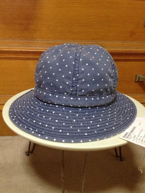 BEDWIN ベドウィン ミリタリー クルーハット 0 S ドット ネイビー青 コットン帽子 日本製  < ブランドの