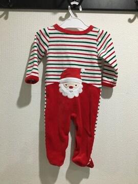 クリスマス サンタクロース ロンパース カバーオール ベビー 70 長袖