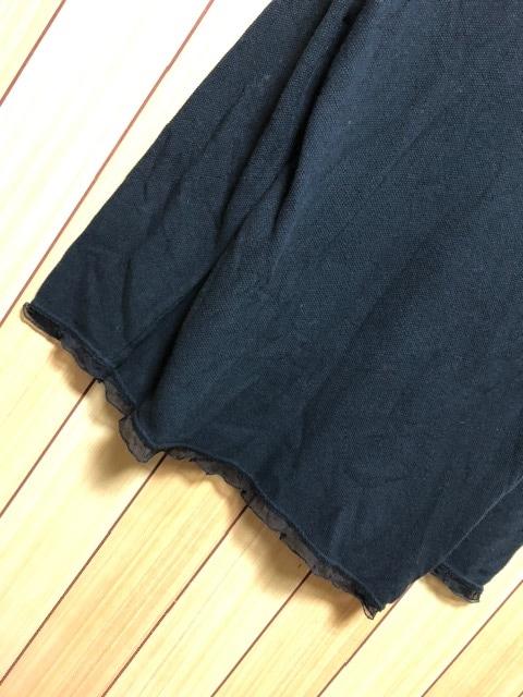 3.3万新品タグ付きCINZIACALDI★ウール混裾シルクシフォン付PO