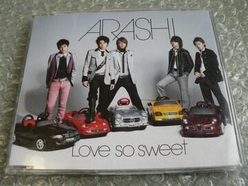 嵐『Love so sweet』初回限定盤【ファイトソング】収録/難あり品