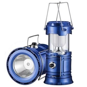 LEDランタン折り畳み式懐中電灯スライド式ブルー2
