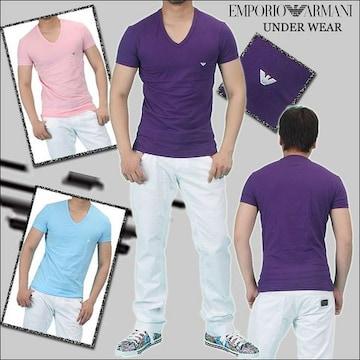 □EMPORIO ARMANI/エンポリオアルマーニ イーグルマーク 半袖 Tシャツ/メンズ☆新品