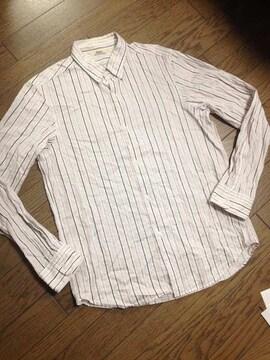 美品EDIFICE ストライプシャツ 日本製 エディフィス