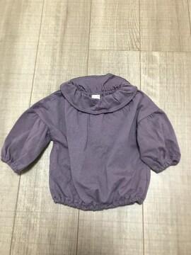 新品tete a teteバースデイ女の子トップスくすみカラー紫