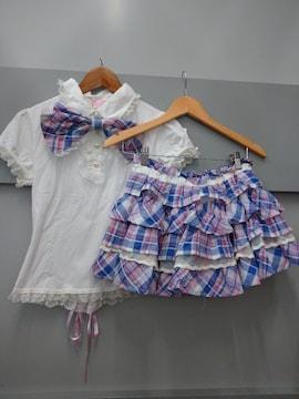 TRALALA☆チェック柄セットアップ