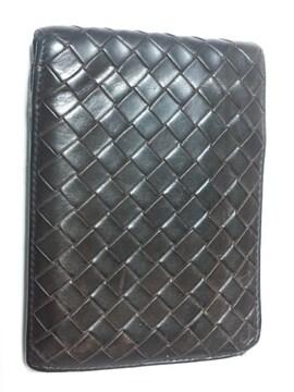 11681/ボッテガヴェネタ★確実本物編み込みデザインの2つ折り財布