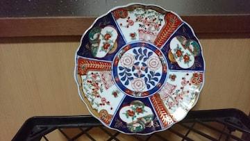 明治期…古伊万里〜染錦〜赤絵皿…