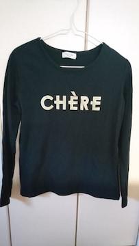 Te chi chi  テチチ  ゴールド縁どりロゴTシャツ 黒