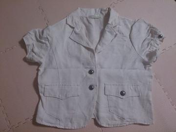 リネン入り 半袖ジャケット