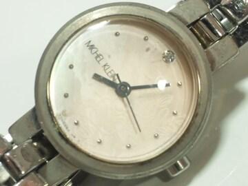 12300/ミッシェルクランMICHELKLEINお花柄シェル素材ダイヤルレディース腕時計