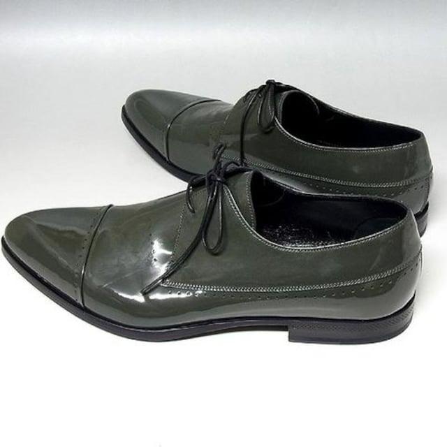 【セルジオ・ロッシ】エナメル メンズシューズ 革靴 モス < ブランドの