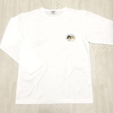 【NEW】ワンポイント丸首長袖Tシャツ/M/白/FIORUCCI