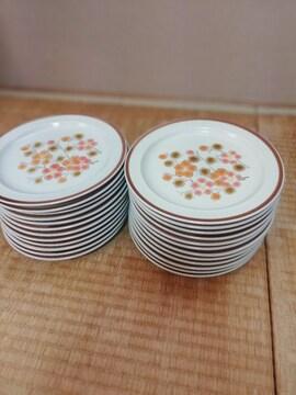 ☆激安☆花柄クリーム色高級お洒落なプレート中皿24枚セット(未
