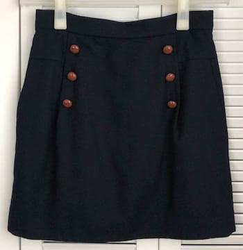 IENA/イエナ/くるみボタン/スカート/ネイビー