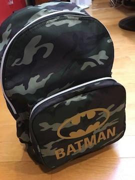 BATMAN  迷彩柄リュックサック  ゴールドプリント
