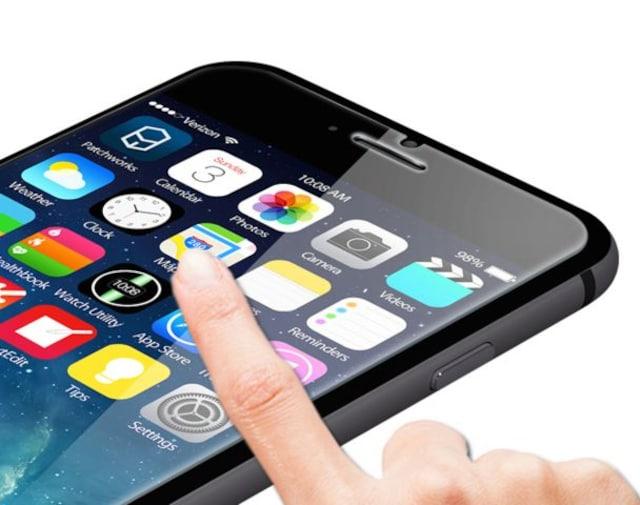 iPhone6s/6 plus(5.5inch) クリアガラス保護フィルム  0.25mm < 家電/AVの