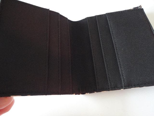 アニマル柄2つ折財布 < 女性ファッションの