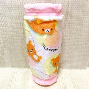 【NEW/非売品】リラックマ ふわふわペットボトルカバー/ピンク
