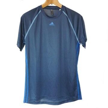 新品◆送料無料◆adidas紺色3stクライマライトTシャツ(L)