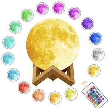 ★送料無料★ 12色に光る 月のランプ 15cm リモコン付