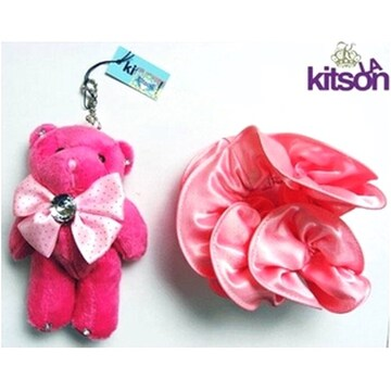 【キットソン】Kitson『シュシュ付テディベアチャーム』新品