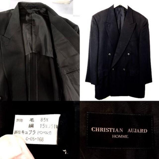 CHRISTIAN AUJARD■テーラードジャケット■シルク■紺ブレザー < ブランドの