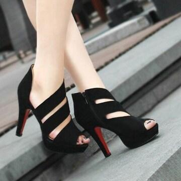 セクシー ピンヒール オープントゥサンダル 美脚 パンプス11�p 靴 結婚式/パーティー