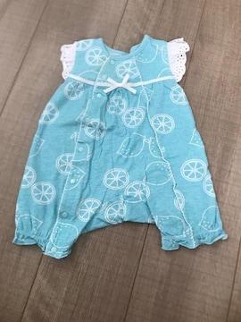 半袖カバーオール50〜60新生児〜ベビ服美品出産予定の方にも